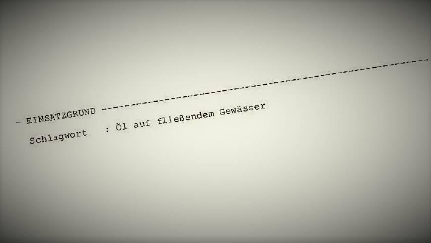 """""""Öl auf fließendem Gewässer"""" in Fröschenthal!"""